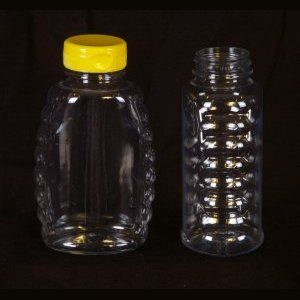 16oz Classic Plastic Bottle w/ Yellow Snap Cap – 12 Pack.