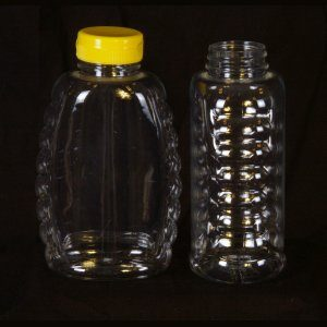 24oz Classic Plastic Bottle w/ Yellow Snap Cap – 12 Pack