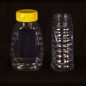 8oz Classic Plastic Bottle w/ Yellow Snap Cap – 12 Pack.