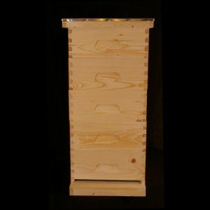 Assembled, Unpainted 5 Medium Hive w/  Wire Wax Foundation