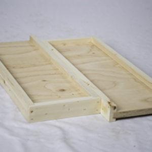 Divided Solid Bottom Board – Assembled