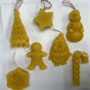 100% Pure Beeswax Ornaments – 4 Variety Pack